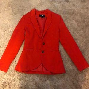 Women's Red H&M Blazer Jacket Size 4
